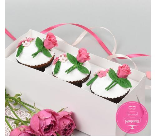 Капкейки Праздничные Розы