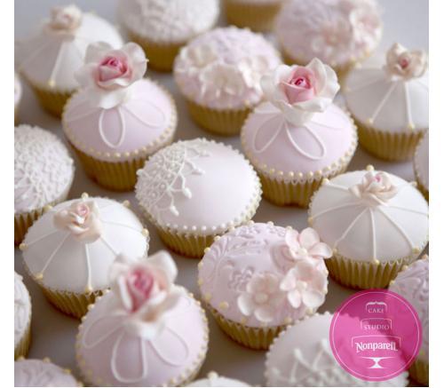 Капкейки Свадебные Нежно розовые