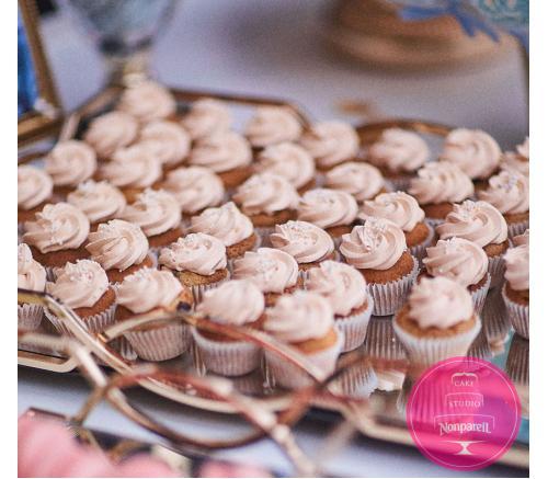 Капкейки Свадебные Пудровые (мини)