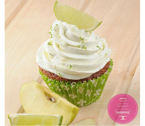 Имбирно-яблочный маффин с лаймовым кремом