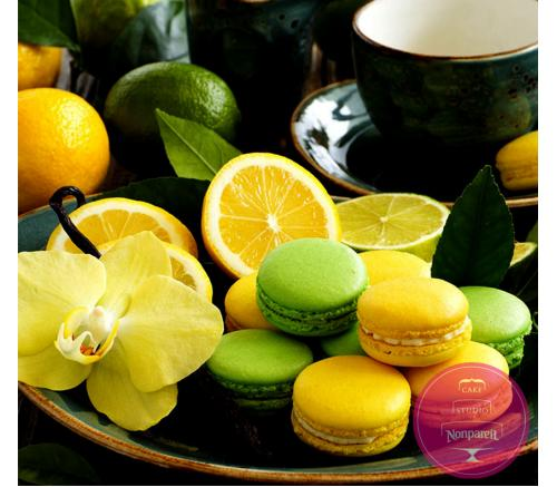 Макаронс Лимон и лайм