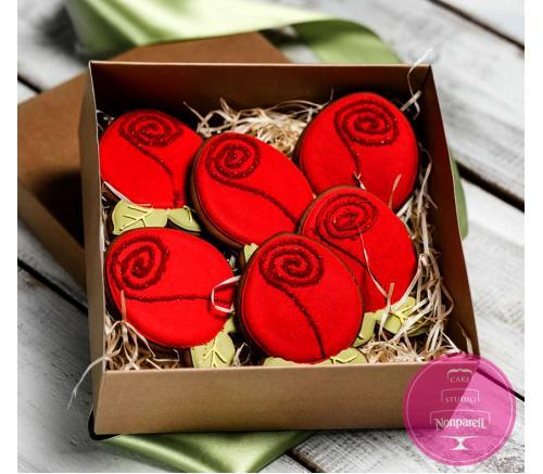 Пряники Праздничные Розы (набор)