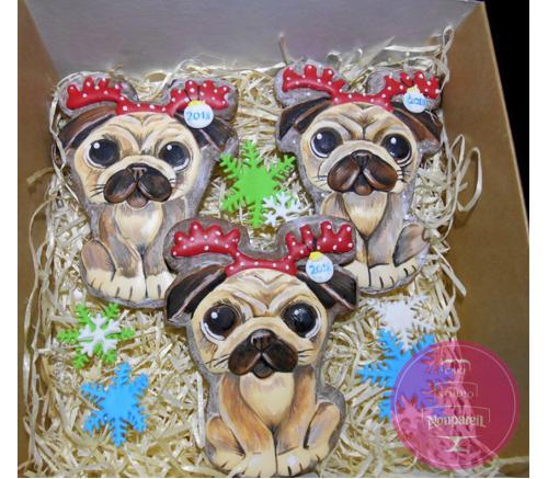 Пряники Праздничные Год веселой собаки (набор)