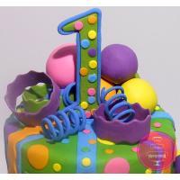 Торт Детский Яркий шариковый