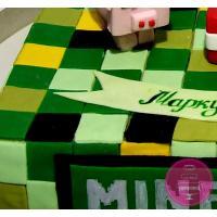 Торт Детский Майнкрафт в сборе