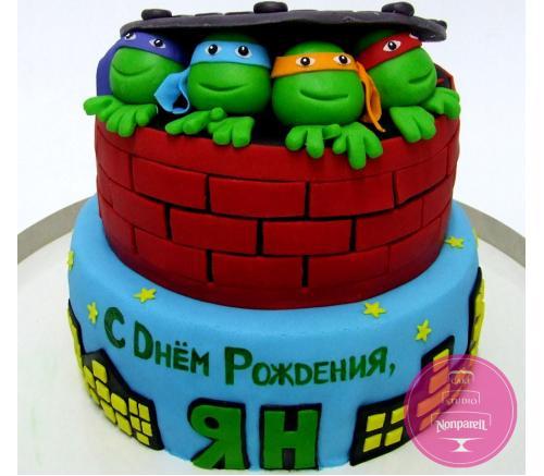 Торт Детский Черепашки ниндзя 3