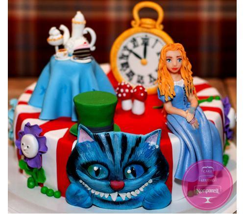Торт Детский Алиса в Зазеркалье