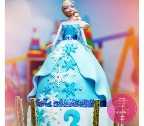 Торт Детский Холодное Сердце 4