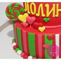 Торт Детский Рожок и конфеты