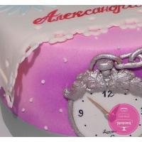 Торт Детский Белый кролик и часы