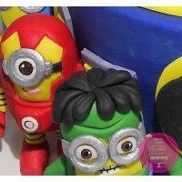 Торт Детский Миньоны супергерои