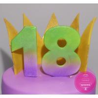 Торт Детский Фиолетовый с короной