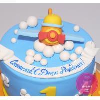 Торт Детский Самолетик в облаках