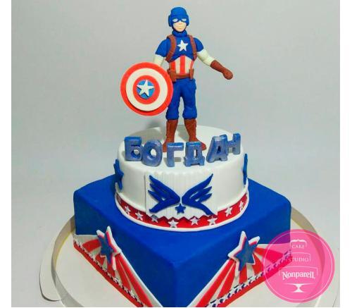 Торт Детский Капитан Америка