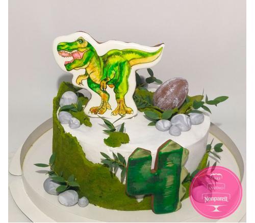 Торт Детский Динозавры с пряниками 2
