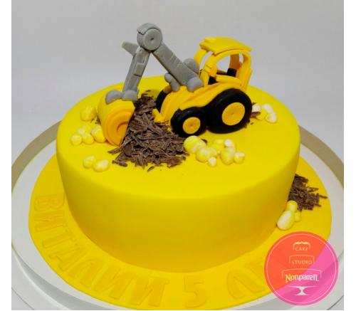 Торт Детский С экскаватором
