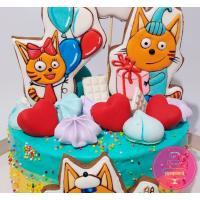 Торт Детский Три кота кремовый 2
