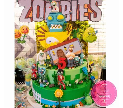 Торт Детский Зомби против растений