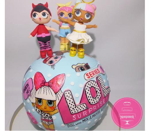 Торт Детский Куклы LOL