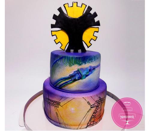 Торт Корпоративный Поздравительный Энерго