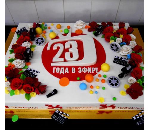Торт Корпоративный для 34 телеканала