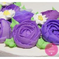 Торт Праздничный С малазийскими цветами