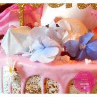 Торт Праздничный Кремовый с цветами и сладостями