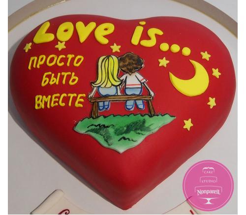 Торт Праздничный Love is