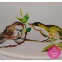 Торт Праздничный Цветочный с птичками