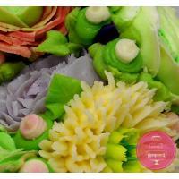 Торт Праздничный С кремовыми цветами