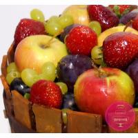 Торт Праздничный Бочка с фруктами