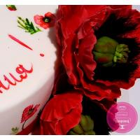 Торт Праздничный Цветочный принт