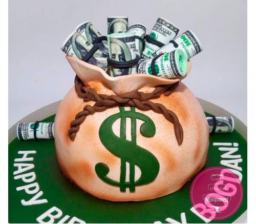 Торт Праздничный Мешок с деньгами