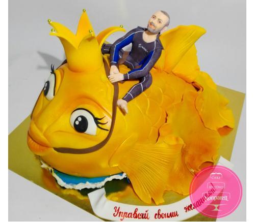 Торт Праздничный Золотая рыбка