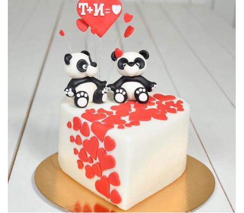 Торт Праздничный Влюбленные мишки