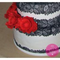Торт Свадебный Пионы и кружево
