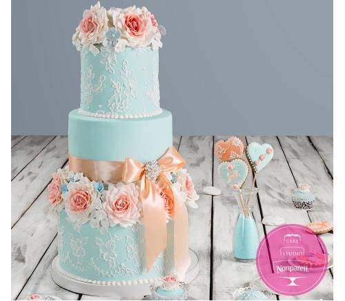 Торт Свадебный Шебби Шик
