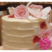 Торт Свадебный Амбре с цветами