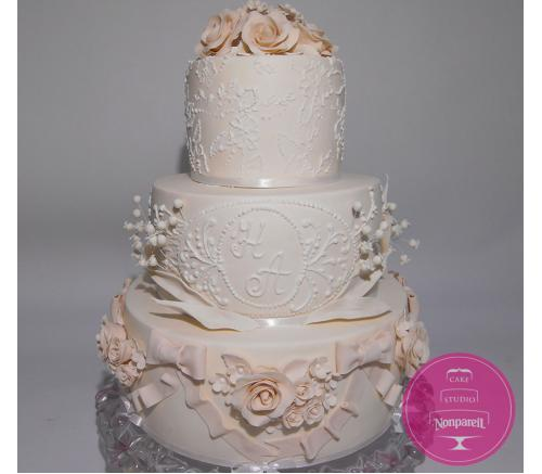 Торт Свадебный Цветочный