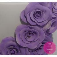 Торт Свадебный Сиреневое амбре роз