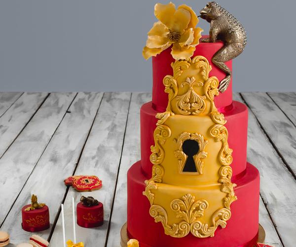 Новинка! Свадебный торт цвета Марсал (ВИДЕО)!