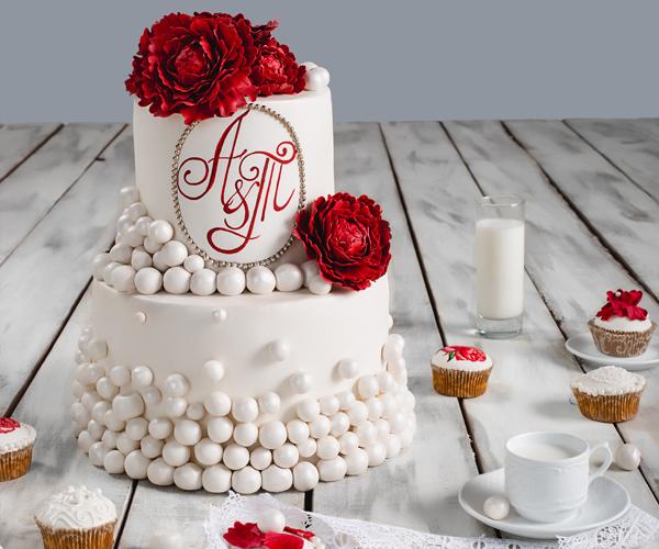 Торт для необычной - золотой свадьбы (ВИДЕО)!