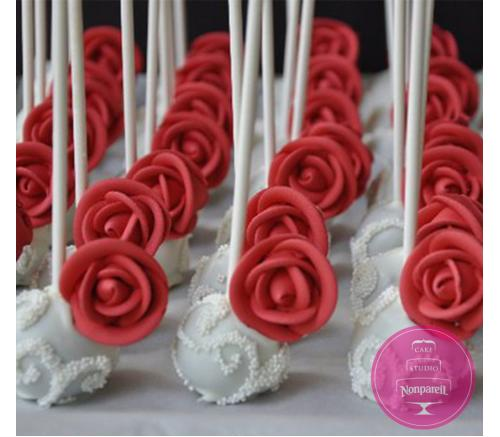 Кейк попс С красными розами
