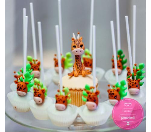 Кейк попс Жирафы