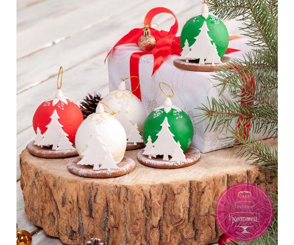 Рождественская иллюстрация кэнди бар от Cake Studio Nonpareil
