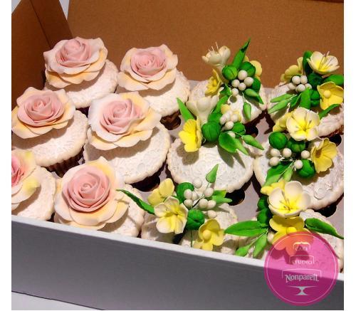 Капкейки Свадебные Цветочные