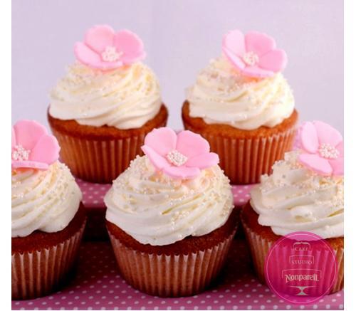 Капкейки Свадебные С розовыми цветами