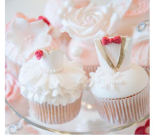 Капкейки Свадебные Жених и невеста