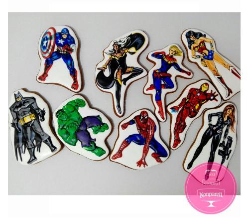 Пряники Детские Супергерои 2