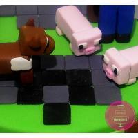 Торт Детский Майнкрафт ферма